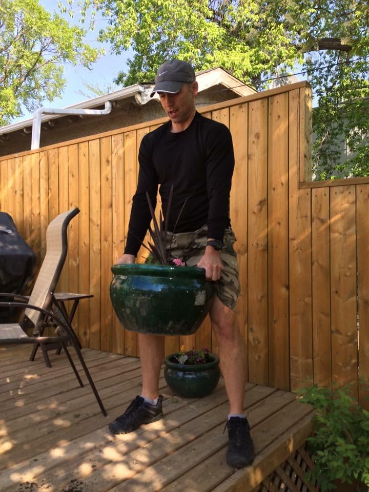 pottting soil deadlift